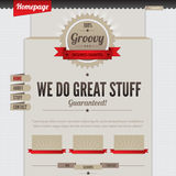 Vintage-retro website. Template design