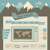 Vintage retro website template Stock Images