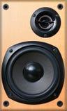 Vintage retro wooden audio speaker Royalty Free Stock Photo