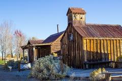 Vintage Retro Wooden Cabins stock photos