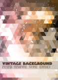 Vintage RetroDesign flyer template. Abstract background Royalty Free Stock Image