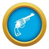 Vintage revolver icon blue vector isolated. On white background for any design royalty free illustration