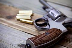 Vintage revolver nagant Royalty Free Stock Image