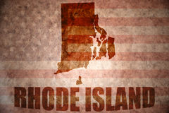 Vintage rhode island map Royalty Free Stock Images