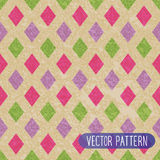 Vintage rhombus pattern Royalty Free Stock Photos