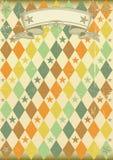 Vintage rhombus pattern poster Royalty Free Stock Image