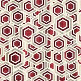 Vintage rhombus white and red color seamless Stock Images