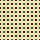 Vintage rhombuses seamless pattern Stock Photos