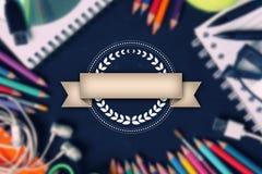 Vintage ribbon design for education background Stock Images