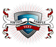 Vintage ribbon emblem Stock Photography