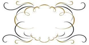 Vintage ribbon emblem Stock Image