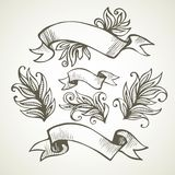 Vintage Ribbon. Hand drawn illustration Royalty Free Stock Photography
