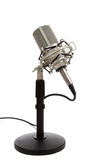 Vintage ribbon microphone on a white  background Royalty Free Stock Photography