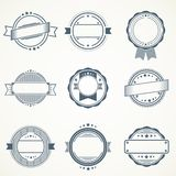 Vintage ribbon vectors. Different vintage ribbon vectors on a white background Royalty Free Stock Images