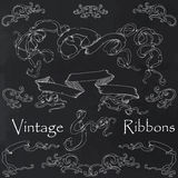 Vintage ribbons collection Royalty Free Stock Image