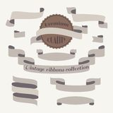 Vintage ribbons collection in vector Royalty Free Stock Photo