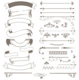 Vintage ribbons and design elements Stock Images