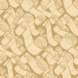 Vintage ribbons and scrolls.  Wallpaper seamless pattern Royalty Free Stock Image