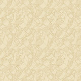 Vintage ribbons and scrolls.  Wallpaper seamless pattern Stock Image