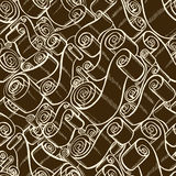 Vintage ribbons and scrolls.  Wallpaper seamless pattern Stock Photography
