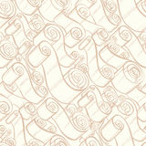Vintage ribbons and scrolls.  Wallpaper seamless pattern Royalty Free Stock Photos