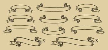 Vintage ribbons set Stock Images