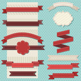Vintage ribbons. Set for christmas Royalty Free Stock Images
