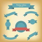 Vintage ribbons set. For websites or quality badges. Eps10 vector illustration Royalty Free Stock Images