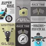 Vintage Rider Poster Set Photos libres de droits