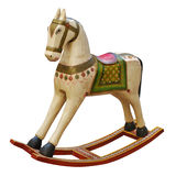 Vintage riding horse. Shabby decorated riding horse toy Royalty Free Stock Images
