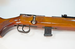 Vintage rifle in a cropped image Royalty Free Stock Image