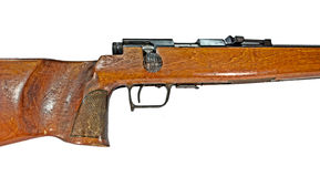 Vintage rifle in a cropped image Stock Image