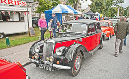 Vintage Riley saloon. On show at Motormania held at Grantown on Spey on 31st August 2013 Royalty Free Stock Images