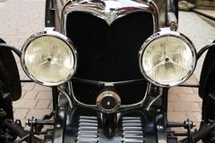 Vintage Riley Two Seater Sportscar from 1938 oldsmobile veteran. SAALBACH-HINTERGLEMM, AUSTRIA - JUNE 21 2018: Vintage Riley Two Seater Sportscar from 1938 stock images