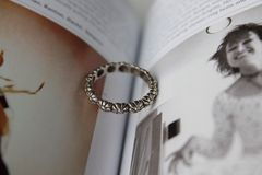 Vintage ring. And fashion book royalty free stock photos