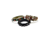 Vintage rings. In different styles royalty free stock image
