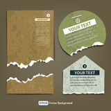 Vintage ripped label paper design background Royalty Free Stock Image