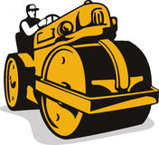 Vintage Road Roller  Retro Stock Photography