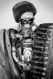 Vintage robot in black and white photo Stock Photos