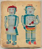 Vintage Robot Couple Stock Photo