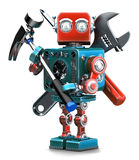 Vintage Robot with instruments. . Containsc lipping path Stock Photo