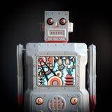 Vintage Robot Toy. Vintage robot metal wind up toy Stock Photos
