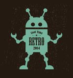 Vintage robot. Vector illustration of mechanic monster Royalty Free Stock Photo