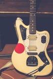 Vintage rock electric guitar stock images