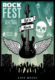 Vintage Rock Music Fest Template Royalty Free Stock Photography