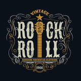 Vintage rock and roll typograpic for t-shirt ,tee designe,poster stock illustration