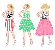 Vintage rockabilly girl Stock Photography