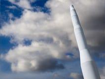 Vintage Rocket listo para su mensaje Fotografía de archivo libre de regalías