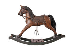 Vintage rocking horse Stock Images