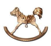 Vintage Rocking Horse Stock Image